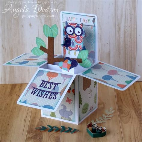 owl pop up card template owl pop up box card with grace t craft inspiration