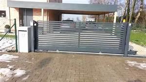 Portail Coulissant Sur Rail : portail coulissant sur rail horizontal mod le paralline ~ Edinachiropracticcenter.com Idées de Décoration
