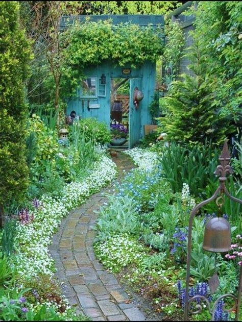 brick path   secret garden painted furniture