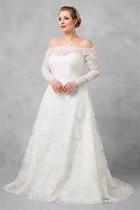 Off the shoulder plus size a line wedding dress 8cwg765 for Plus size off the shoulder wedding dress