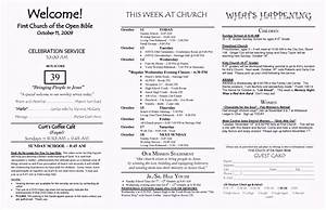 church brochure template word free template update234 With church bulletin templates for word