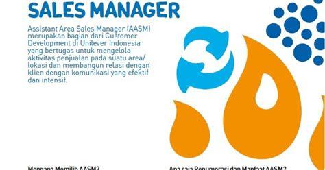 lowongan kerja assistant area sales manager unilever