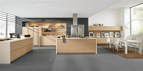 photo de cuisine design cuisine design sans poignées en bois
