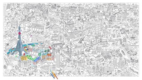 bureau pratique et design poster à colorier 180 x 100 cm omy