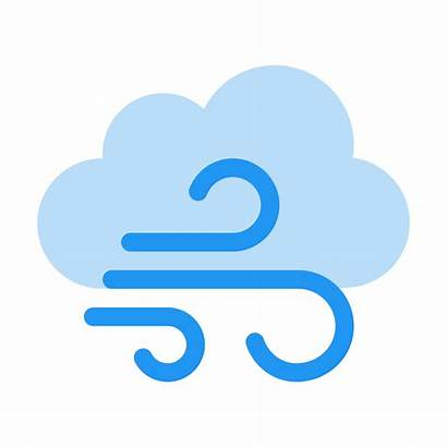 Weather Clipart Windy Icon Clouds Wind Cold