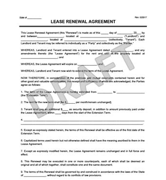 lease renewal letter create a free lease renewal print