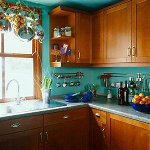 25 best teal kitchen walls ideas on pinterest teal With kitchen colors with white cabinets with turquoise blue wall art