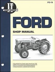 Ford Tractor Repair Manual Model Naa  Naa Golden Jubilee