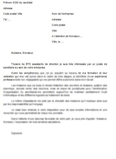 lettre de motivation secretaire de direction mod 232 le de lettre lettre de motivation secr 233 taire