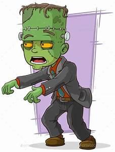 7 best Vector cartoon man halloween green zombie monsters ...