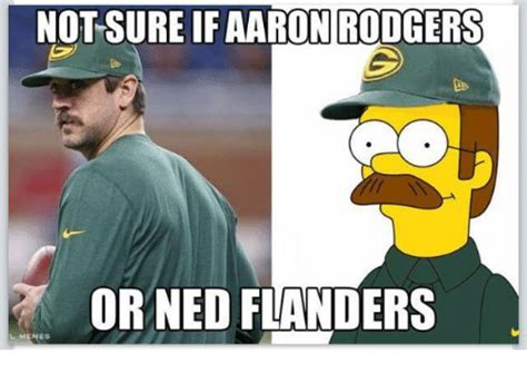 Ned Flanders Memes - not sure ifaaron rodgers or ned flanders lmemes ned flanders meme on sizzle