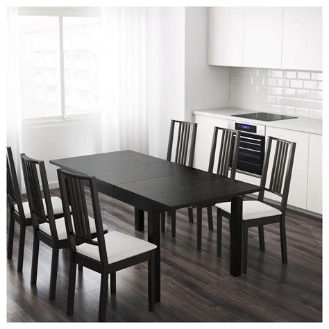 ikea dining table ideas bjursta extendable table brown black 140 180 220x84 cm ikea