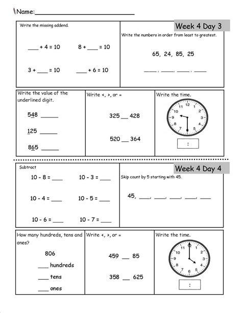 homeschool worksheets  images  grade math