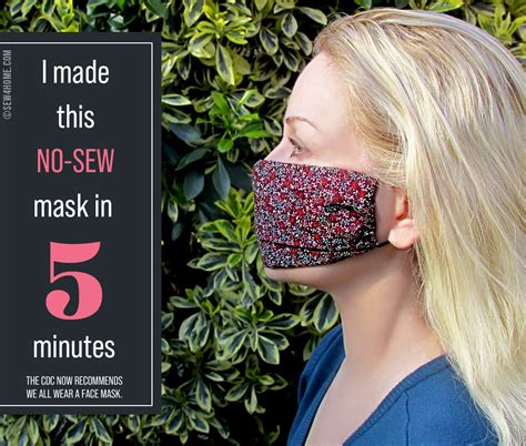 sew diy face masks sewhome