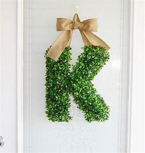 artificial boxwood letter by artificial landscapes With boxwood letters