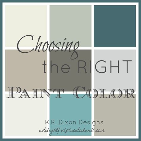 how to choose paint colors comfortable home design