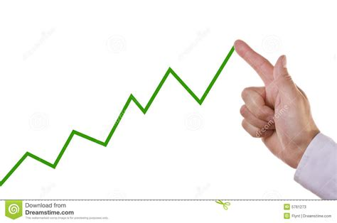 Business Chart Showing Positive Growth Trend Stock Image