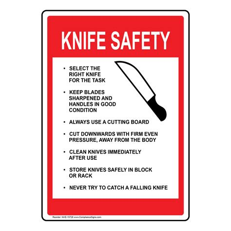 Custom Kitchen Knives - food safety kitchen signs kitchen safety