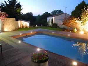 Eclairage Piscine Bois : eclairage piscine bois cool adaptateur projecteur extra ~ Edinachiropracticcenter.com Idées de Décoration