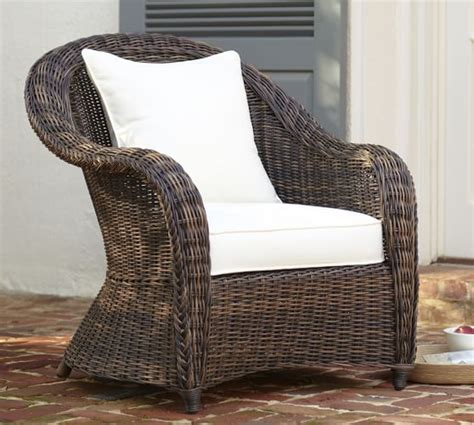 torrey all weather wicker roll arm occasional chair