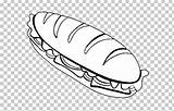 Sandwich Peanut Butter Beef Jelly Roast Cheese Coloring Submarine Clipart Bread sketch template