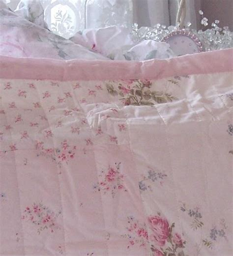 shabby chic velvet bedding twin shabby cottage chic pink peony roses patchwork quilt
