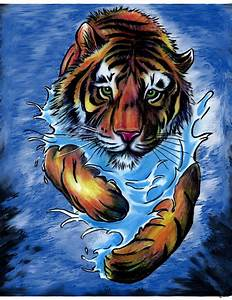 Tiger in Water Painting (Tattoo Flash) by KcbJr1979 on ...