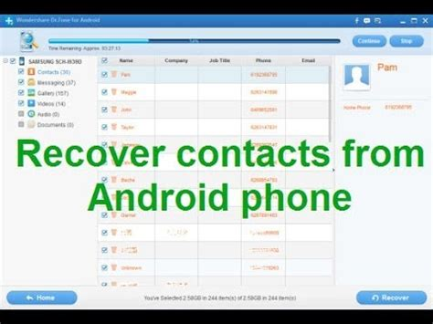 recover deleted photos from android recover contacts and family feud