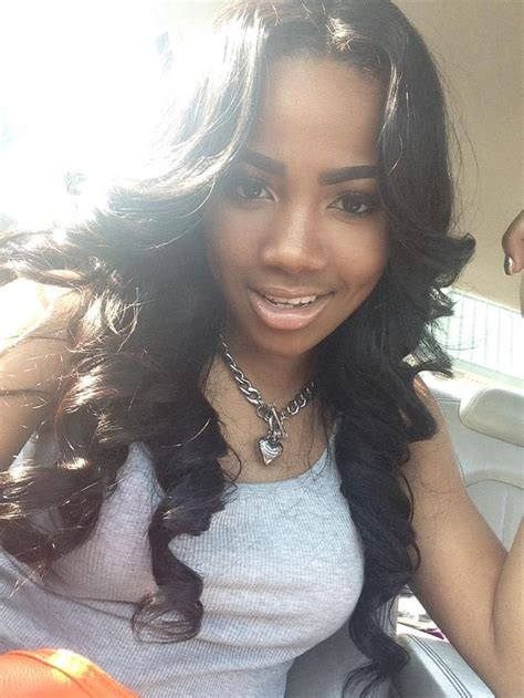 image result for middle part sew in weave weave curly