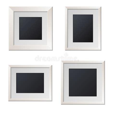 cornici bianche cornici bianche realistiche con il centro in bianco