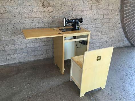 pfaff sewing machine cabinet vintage pfaff 130 industrial sewing machine and cabinet