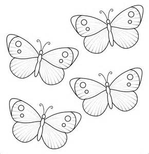 Butterflies Template Printable