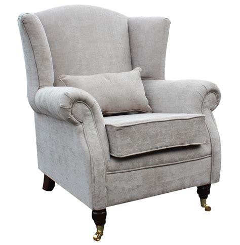 High Backed Armchair by Wing Chair Fireside High Back Armchair Velluto Hessian