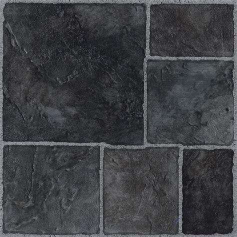 Colours Black Stone Effect  Adhesive Vinyl Tile