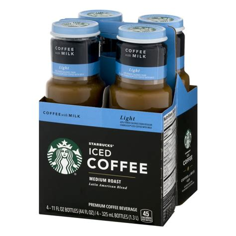 Coffee, tea, iced coffee, frappuccino, refreshers, cold beverages, breakfast, lunch and the bakery. Starbucks Iced Coffee Medium Roast Coffee with Milk LIGHT - 4 PK / 11.0 FL OZ PrestoFresh ...