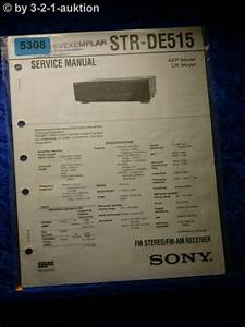 Sony Service Manual Str De515 Fm  Am Receiver   5308