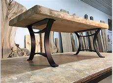 16 INCH TALL STEEL COFFEE TABLE BASE SET! Flat Black