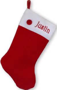 Personalized Christmas Stocking Red Button - Sold Out