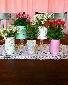 Pretty, Recycled, Flower, Pots