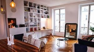 avant apres transformer un studio en deux pieces With ordinary meubles pour petits espaces 6 gain de place des rangements dans les toilettes
