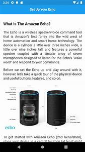 User Guide For Amazon Echo 2nd Gen For Android