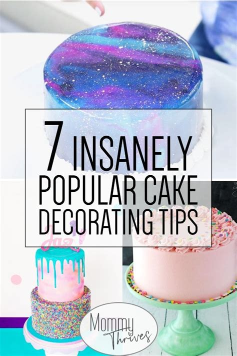 easy cake decorating trends  beginners mommy thrives