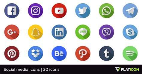 Free Social Media Icons Social Media Icons 29 Free Icons Svg Eps Psd Png Files