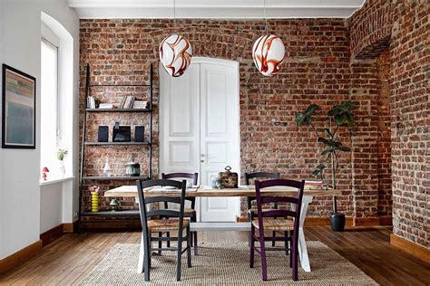 impressive dining rooms  brick walls ideas