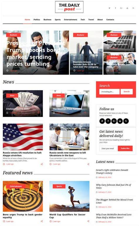30+ News Blog Themes & Templates   Free & Premium Templates