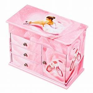Boite A Bijoux Grande : commode bijoux musicale ballerine rose trousselier ~ Teatrodelosmanantiales.com Idées de Décoration