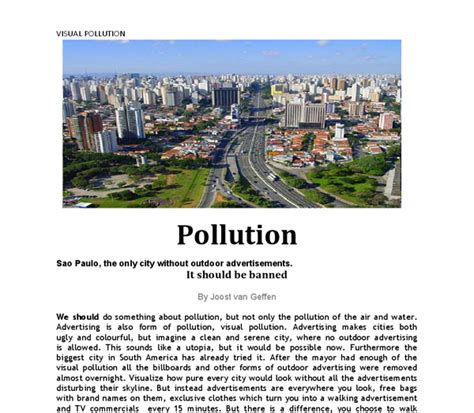 advertising is also form of pollution visual pollution