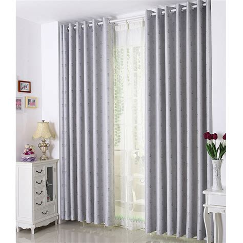 wide window curtains of jacquard blackout function