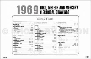 1969 Ford And Mercury Wiring Diagram Galaxie Custom Ltd Marquis Marauder Monterey Meteor