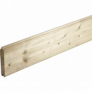 lame en bois a emboiter quick lam naturel l180 x h145 With barriere securite piscine leroy merlin 14 palissade bois composite leroy merlin